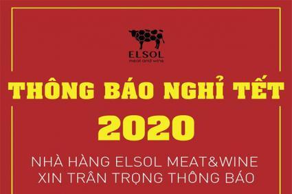 THÔNG BÁO LỊCH NGHỈ TẾT NGUYÊN ĐÁN 2020